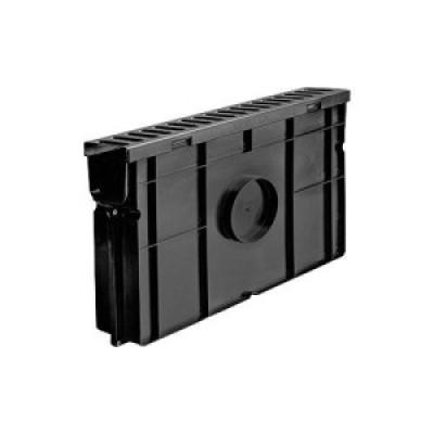 Комплект: Пескоуловитель для пластиковых лотков Лайт ПУ 10.11,5.32.-пластиковый с решеткой стальной