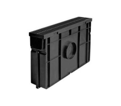 Комплект: пескоуловитель для пластиковых лотков Лайт ПУ 10.11,5.32. – пластиковый с решеткой пластиковой