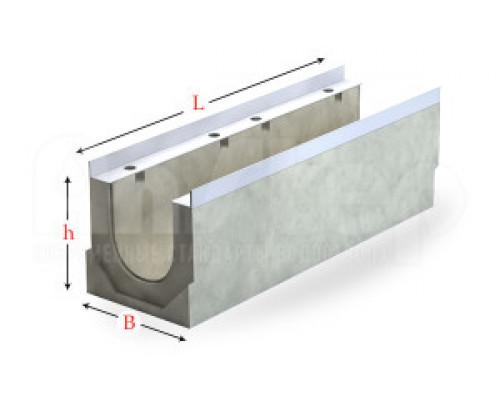 Лоток водоотводный бетонный серии Sir с сечением 150 мм без уклона
