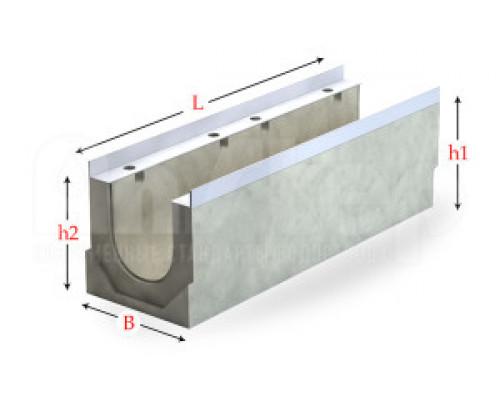 Лоток водоотводный бетонный серии Sir с внутренним уклоном150 мм