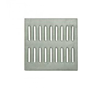 Решетка водоприемная стальная штампованная оцинкованная для дождеприемника 300х300