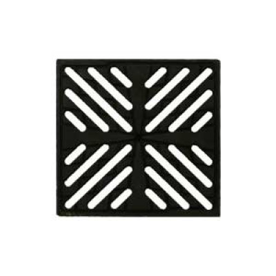 Решетка водоприемная чугунная «Снежинка» для дождеприемника 300х300