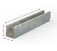 Лоток водоотводный серии Plus с гидравлическим сечением 300 мм без уклона