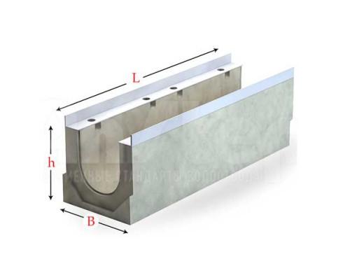 Лоток водоотводный серии Sir с гидравлическим сечением 200 мм без уклона